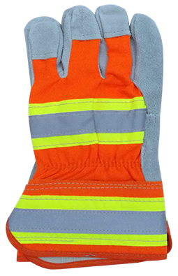 High Visibility Leather Palm Glove
